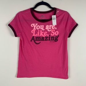 Justice graphic tee you are so amazing size 14/16